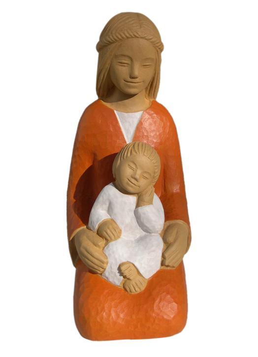 Estatua de Marie de la Alegría a rodillas (Vue de face)