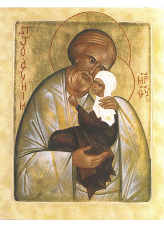 Icon of Saint Joachim with the Blessed Virgin