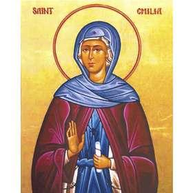 Icono de San Emilie, la madre de Basilio el Grande