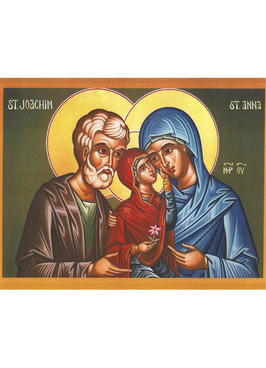 Icon Saints Joachim and Anne with the Virgin