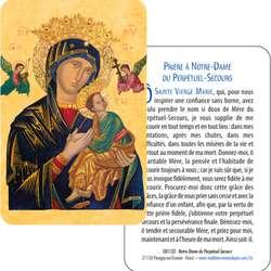 Cartes-prière Notre Dame du Perpétuel Secours (Recto-Verso)