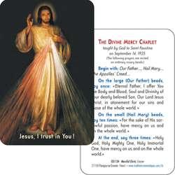 Tarjeta-rezo del Cristo Misericordioso del Cracovie (Recto-Verso)