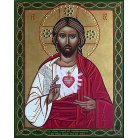 Icono Sagrado y Misericordioso Corazón de Jesús