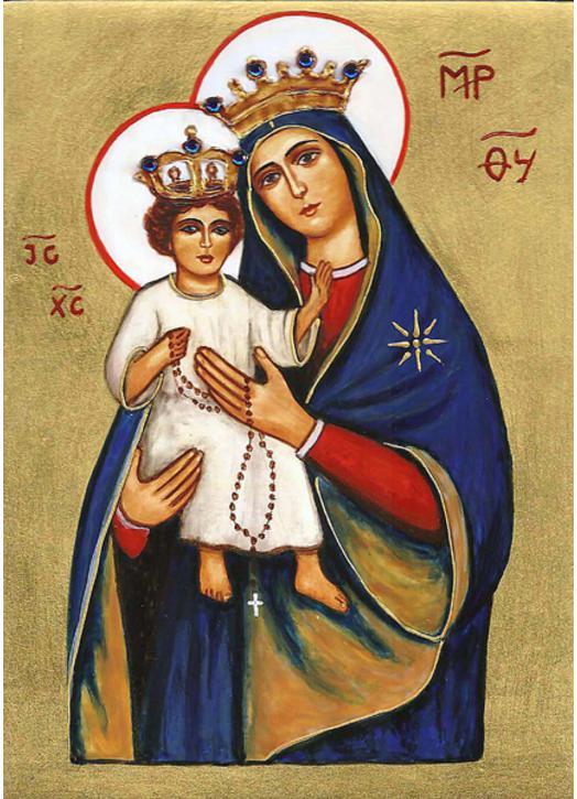 Icône de Notre-Dame du Rosaire