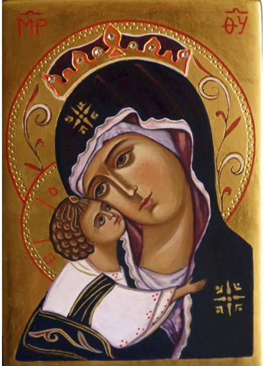 Icono de la Virgen y el Niño