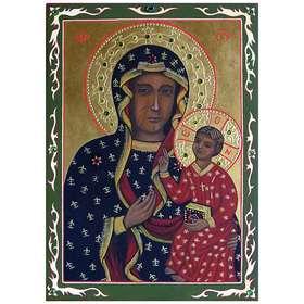 Icono de la Virgen de Czestochowa Negro