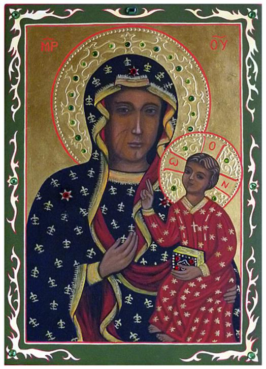 Icône de la Vierge noire de Czestochowa