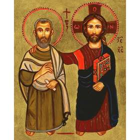 Icon of friendship (Jesus and Saint Menah)