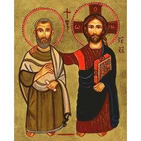 Icono de la amistad (Jesús y San Menah)