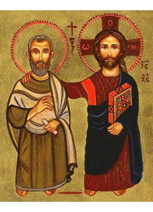 Icône de l'amitié (Jésus et Saint Menah)