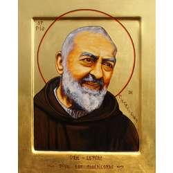 Icono del Padre Pío