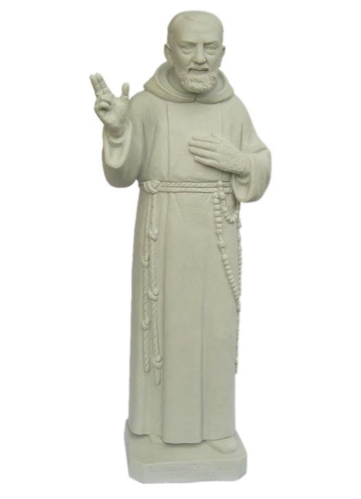 Statue de saint Padre Pio (Vue de face)