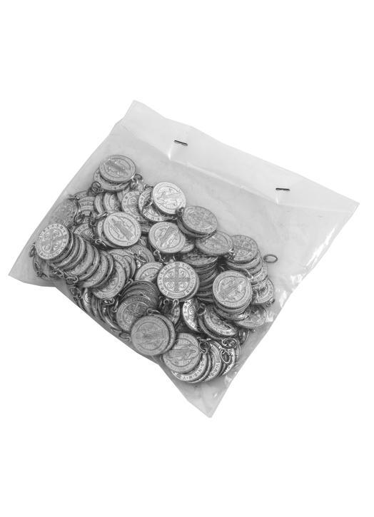Médailles de st Benoît aluminium - 17 mm - lot de 100 (Un paquet de 100)