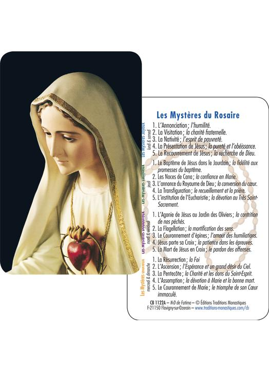 Our Lady of Fatima  (recto-verso)