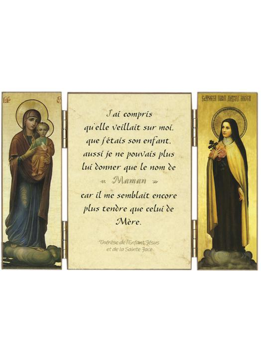 Quotation from Saint Therese of the Child Jesus on Mary