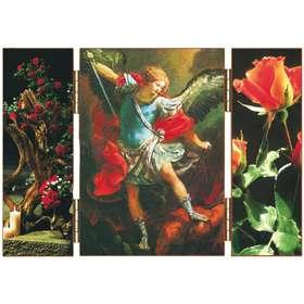 Saint Michel Archange avec décoration florale