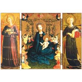 La Vierge à la treille de roses