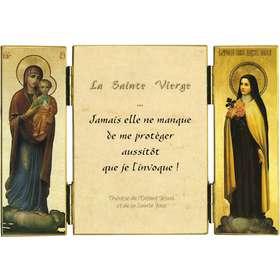 Citation de Ste Thérèse de l'E.-J. sur la protection de Marie