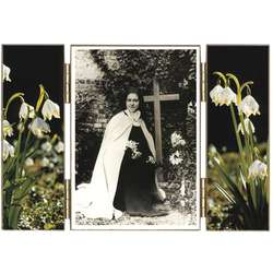 Saint Therese with lily