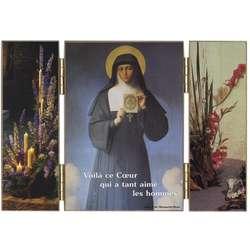Ste Marguerite Marie (1647-1690) portant une image du Sacré Cœur