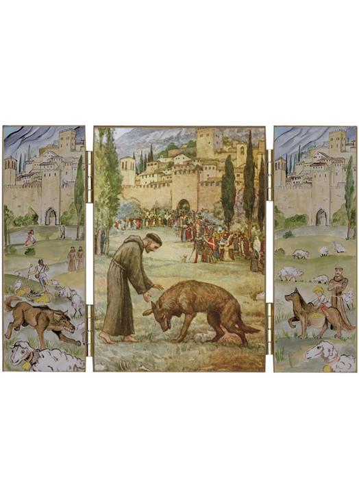 San Francisco de Asís y el lobo de Gubbio
