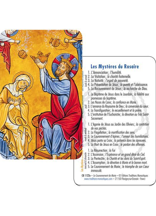 La Coronación de la Virgen María (recto-verso)