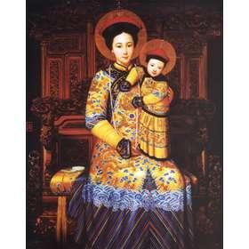 Icono religioso de la Virgen de China