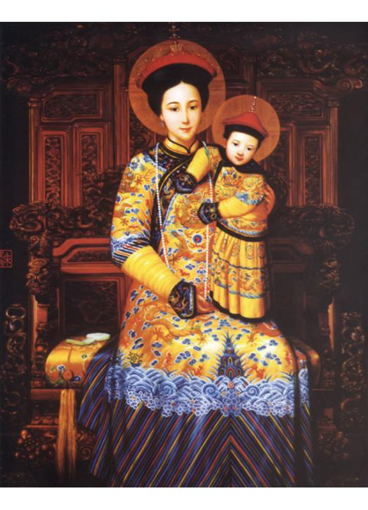 Icône religieuse de Notre Dame de Chine