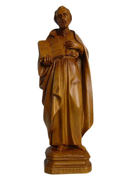 Saint Ignace de Loyala, 20 cm (Vue de face)