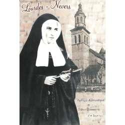 Portrait de Ste Bernadette avec l'Eglise saint Pierre
