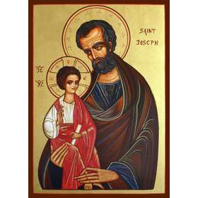Icon of Saint Joseph end The Child Jesus