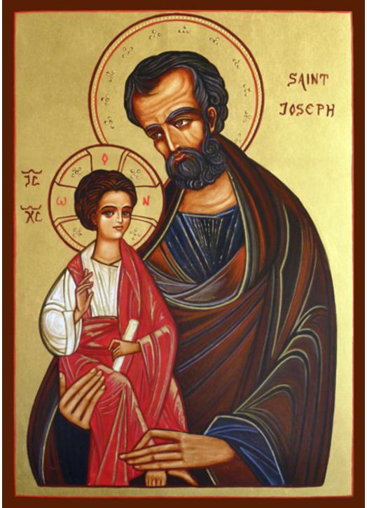 Icon of Saint Joseph end The Child Jesus