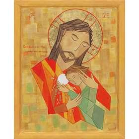 Icono de Cristo y San Juan
