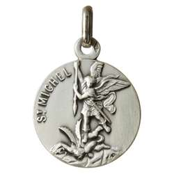 Medal of Saint Michael 18mm, silver plated