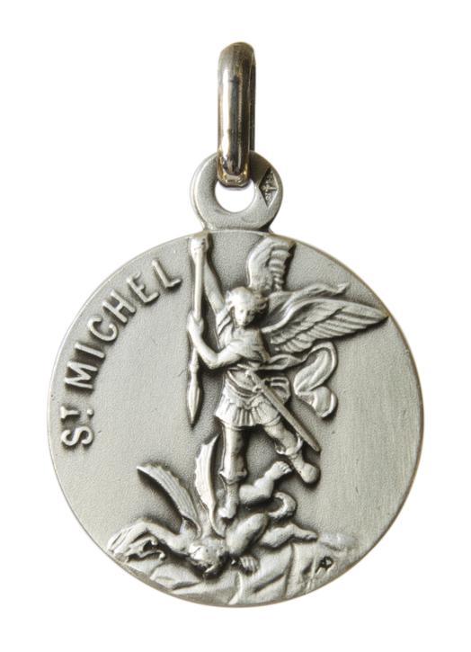 Medalla de S. Miguel 18mm, plata maciza