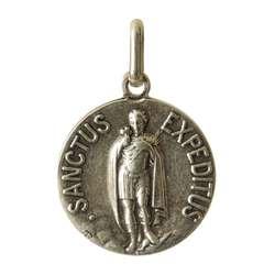 Médaille de Saint Expedit en métal, 18 mm