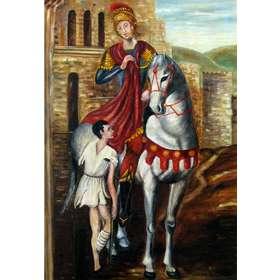 Saint Martin partageant son manteau avec un pauvre (Vue de l'image)