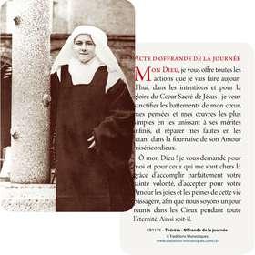 Cartes-prière de sainte Thérèse de l'Enfant-Jésus, novice (Recto-Verso)