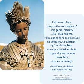 Cartes-prière Notre-Dame à La Salette (Recto-Verso)