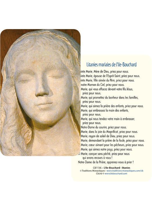 Cartes-prière Notre-Dame de la Prière, apprenez-nous à prier?! (Recto-Verso)