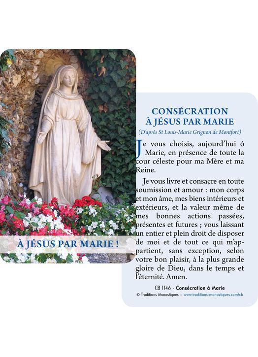 Cartes-prière Notre-Dame des Eaux de Nevers (Recto-Verso)