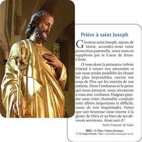 Carte prière Saint-Joseph...