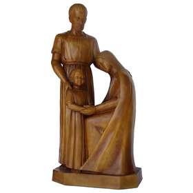 Estatua de la Sagrada Familia, 80 cm, madera clara (Vue de face)