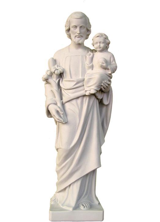 Statue of Joseph saint with the Child Jesus, 79 cm (Vue de face)
