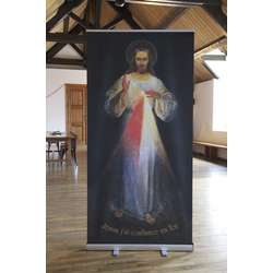 Roll-up of the icon of Merciful Jesus of Vilnius (Image du roll-up)
