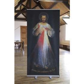 Roll-up de l'icône de Jésus Miséricorde de Vilnius (Image du roll-up)