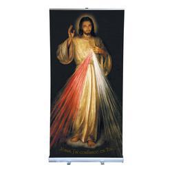 Roll-up de l'icône de Jésus Miséricorde de Cracovie (Icône de Jésus Miésricorde)