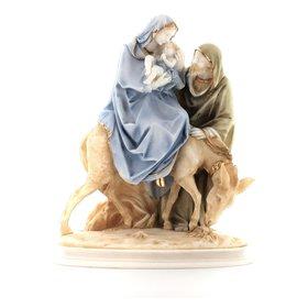 Statue de la sainte Famille et la fuite en Egypte, 26 cm (Vue de face)