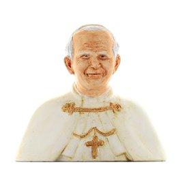 Buste de saint Jean Paul II, 15 cm (Vue de face)