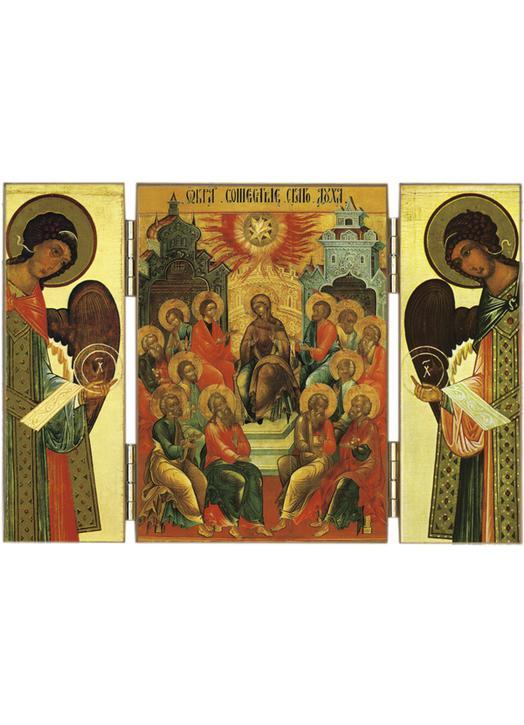 Triptyque religieux Triptyque de la Pentecôte et Archanges ...